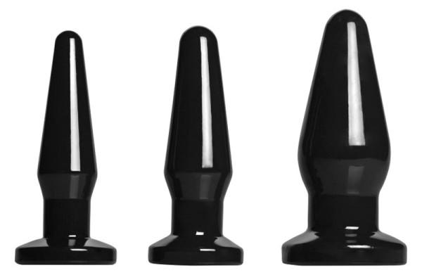 All Black - 3-teiliges Buttplug-Set