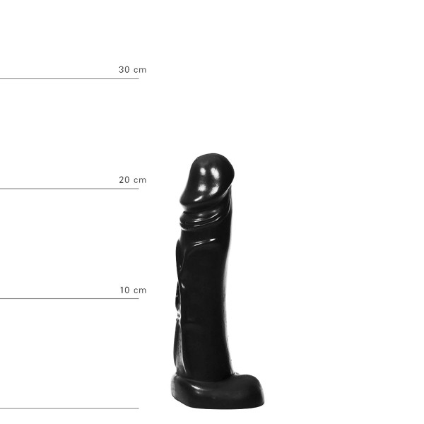 All Black realistischer Dildo 22 cm - Schwarz