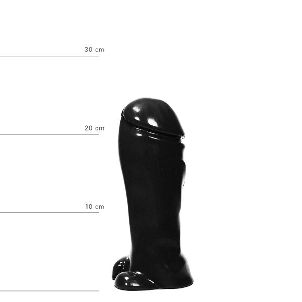 Realistischer Dildo 22 cm in Schwarz